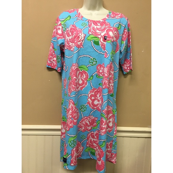 2c6bf1ad5ee Simply Southern Dresses   Rose Floral Tunic Shirt Dress Ml   Poshmark